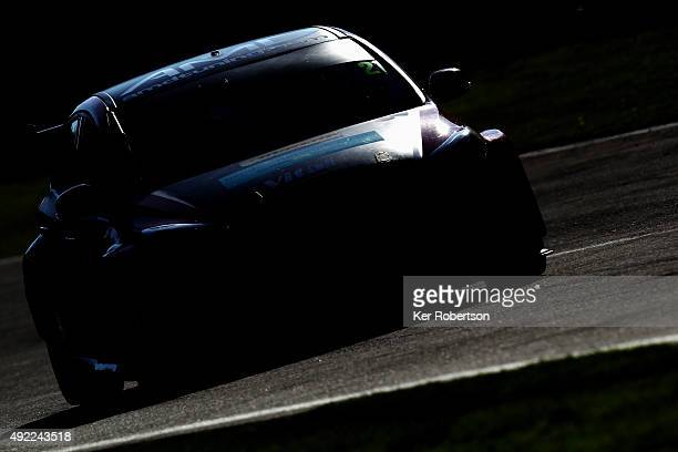Mike Bushell drives his AMD Tuningcom Ford Focus during Race Two of the Final Round of the Dunlop MSA British Touring Car Championship at Brands...