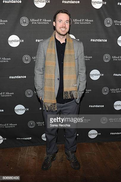 Mike Cahill attends the Alfred P Sloan Foundation Reception and Prize Announcement during the 2016 Sundance Film Festival at High West Distillery on...