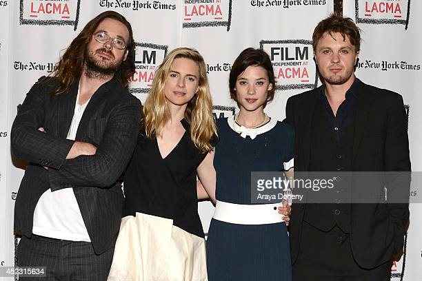 Mike Cahill Brit Marling Astrid BergesFrisbey and Michael Pitt attend the Film Independent at LACMA presents a special screening and QA of 'I...