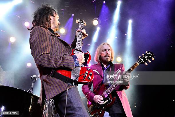 Mike Campbell and Tom Petty perform at Viejas Arena on August 3 2014 in San Diego California