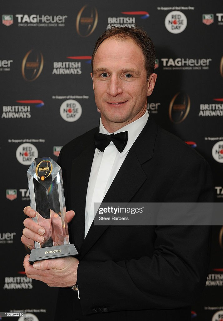 Mike Catt is inducted into the Hall of Fame during the inaugural Premiership Rugby Hall of Fame Ball at the Hurlingham Club on February 7, 2013 in London, England.