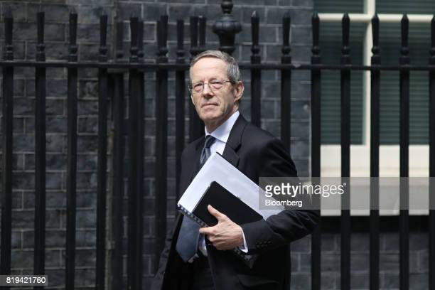 Mike Cherry chairman of the Federation of Small Businesses arrives in Downing Street for a business advisory group meeting in London UK on Thursday...