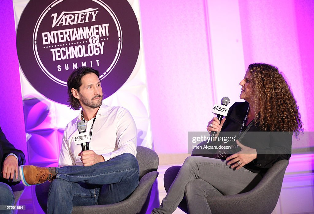Mike Chessler executive producer MTV's 'Awkward' and Allison Grodner executive producer CBS' 'Big Brother' speak onstage at the Variety Entertainment...
