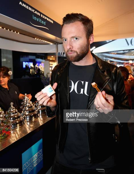 Mike Christensen poses for photos during Vogue American Express Fashion's Night Out 2017 on September 1 2017 in Melbourne Australia