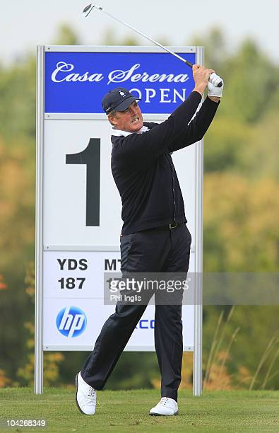 Mike Clayton of Australia in action during the final round of the Casa Serena Open played at Casa Serena Golf on September 19 2010 in Kutna Hora...