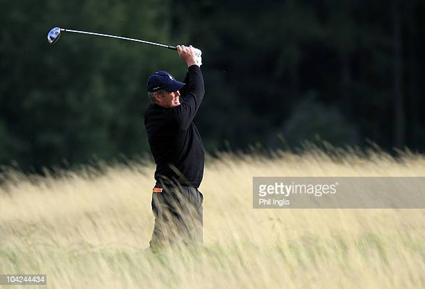 Mike Clayton of Australia in action during the second round of the Casa Serena Open played at Casa Serena Golf on September 18 2010 in Kutna Hora...