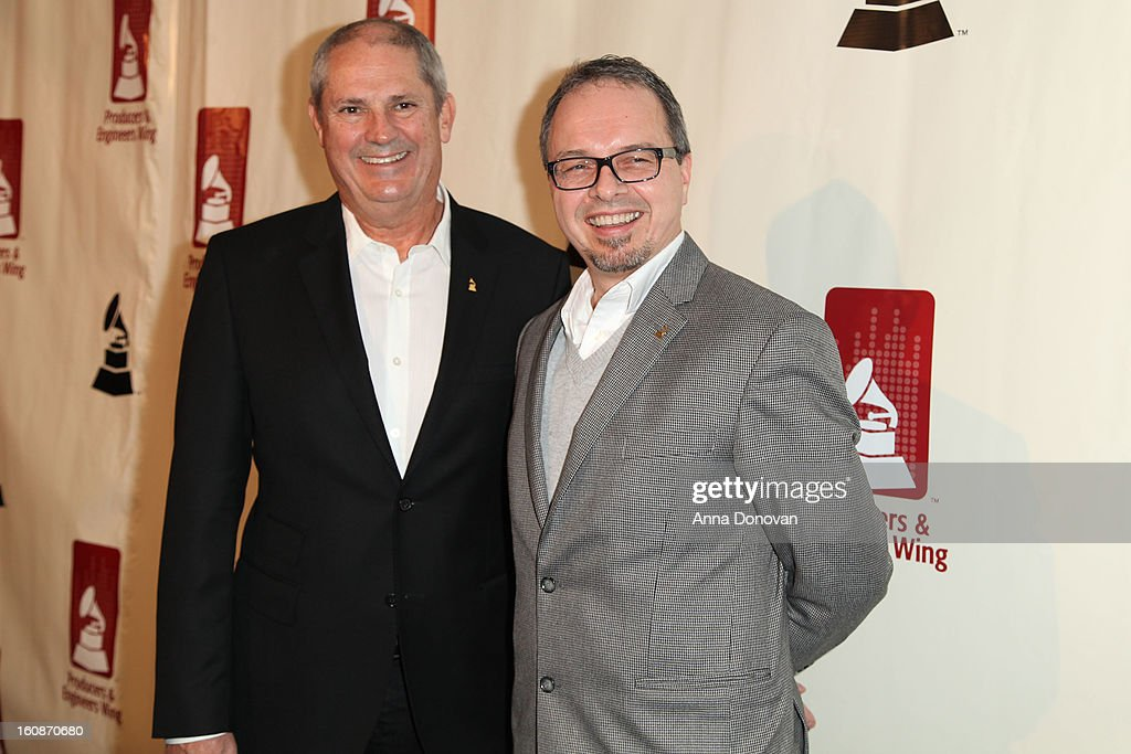Mike Clink and Glenn Lorbecki attend the producers & engineers wing of the recording Academy's 6th Annual GRAMMY Event 'An Evening Of Jazz' at The Village Recording Studios on February 6, 2013 in Los Angeles, California.