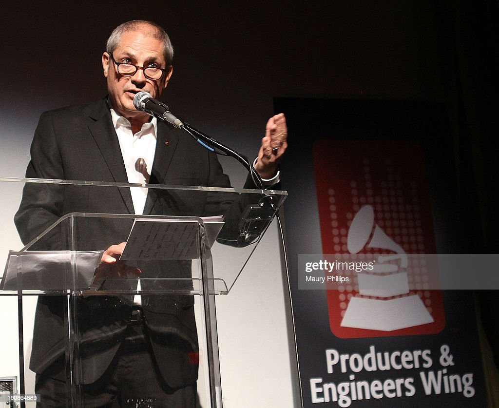 Mike Clink speaks onstage during The 55th Annual GRAMMY Awards - Producers and Engineers Wing event honoring Quincy Jones And Al Schmitt on February 6, 2013 in Los Angeles, California.