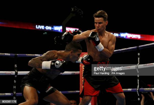 Mike Cole against Conor Benn in the Welterweight contest at the O2 Arena London