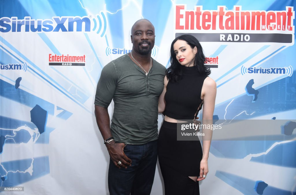 Mike Colter and Krysten Ritter attend SiriusXM's Entertainment Weekly Radio Channel Broadcasts From Comic Con 2017 at Hard Rock Hotel San Diego on July 21, 2017 in San Diego, California.