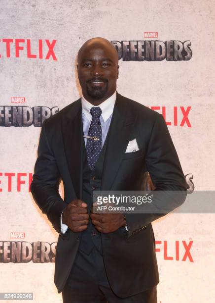 Mike Colter arrives for the Netflix premiere of Marvel's 'The Defenders' on July 31 2017 in New York / AFP PHOTO