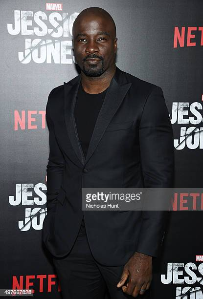 Mike Colter attends the 'Jessica Jones Series Premiere at Regal EWalk on November 17 2015 in New York City