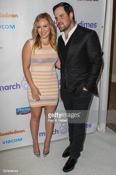 Mike Comrie and Hilary Duff arrive at the March Of Dimes' Celebration Of Babies held at the Beverly Hills Hotel on December 7 2012 in Beverly Hills...