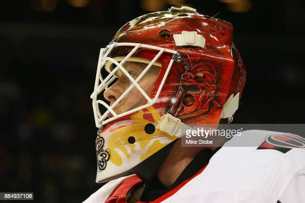 Mike Condon of the Ottawa Senators in action against the New York Islanders at Barclays Center on December 1 2017 in New York City Ottawa Senators...