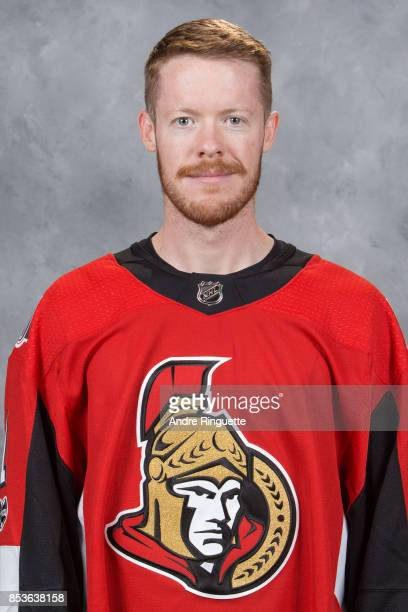 Mike Condon of the Ottawa Senators poses for his official headshot for the 20172018 season on September 14 2017 at Canadian Tire Centre in Ottawa...
