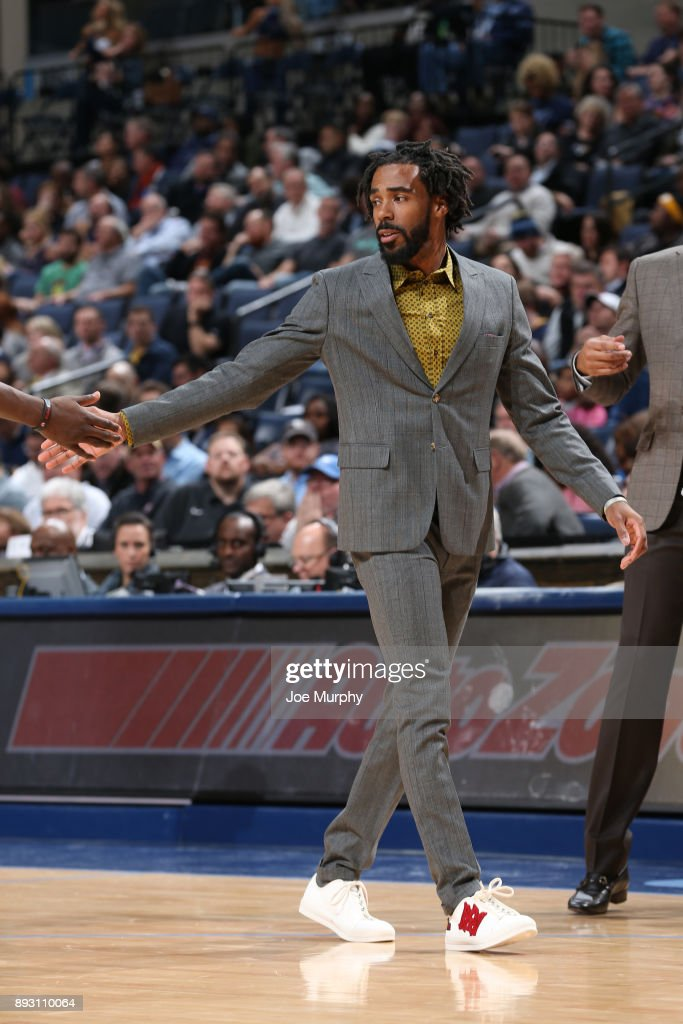 Mike Conley #11 of the Memphis Grizzlies during the game against the Miami Heat on December 11, 2017 at FedExForum in Memphis, Tennessee.