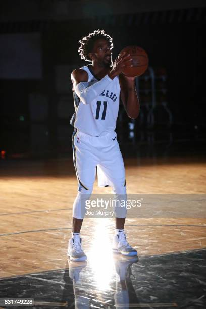 Mike Conley of the Memphis Grizzlies in his Nike jersey on August 7 2015 at FedExForum in Memphis Tennessee NOTE TO USER User expressly acknowledges...