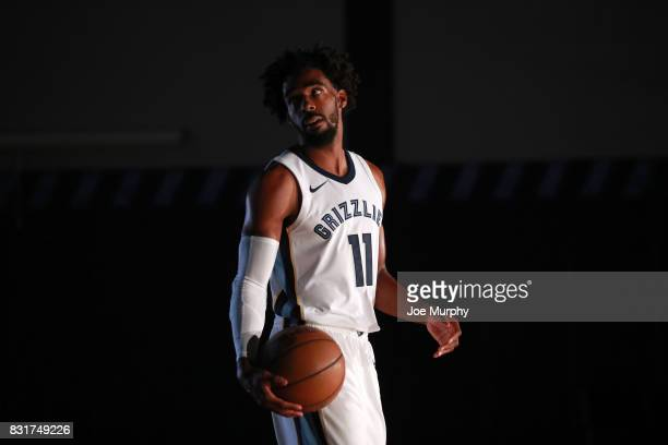 Mike Conley of the Memphis Grizzlies poses in his Nike jersey on August 7 2015 at FedExForum in Memphis Tennessee NOTE TO USER User expressly...