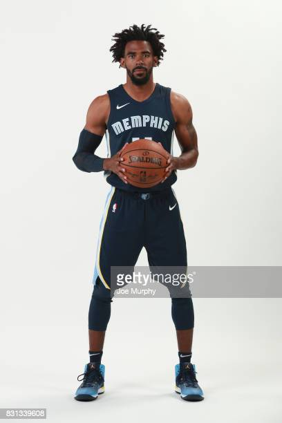 Mike Conley of the Memphis Grizzlies poses in his Nike uniform on August 7 2015 at FedExForum in Memphis Tennessee NOTE TO USER User expressly...