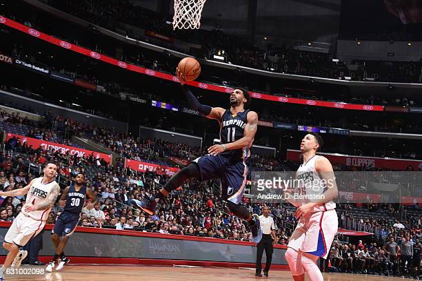 Mike Conley of the Memphis Grizzlies shoots the ball against the LA Clippers on January 4 2017 at STAPLES Center in Los Angeles California NOTE TO...