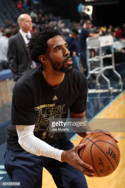 Mike Conley of the Memphis Grizzlies shoots the ball before the game against the Phoenix Suns on February 8 2017 at FedExForum in Memphis Tennessee...