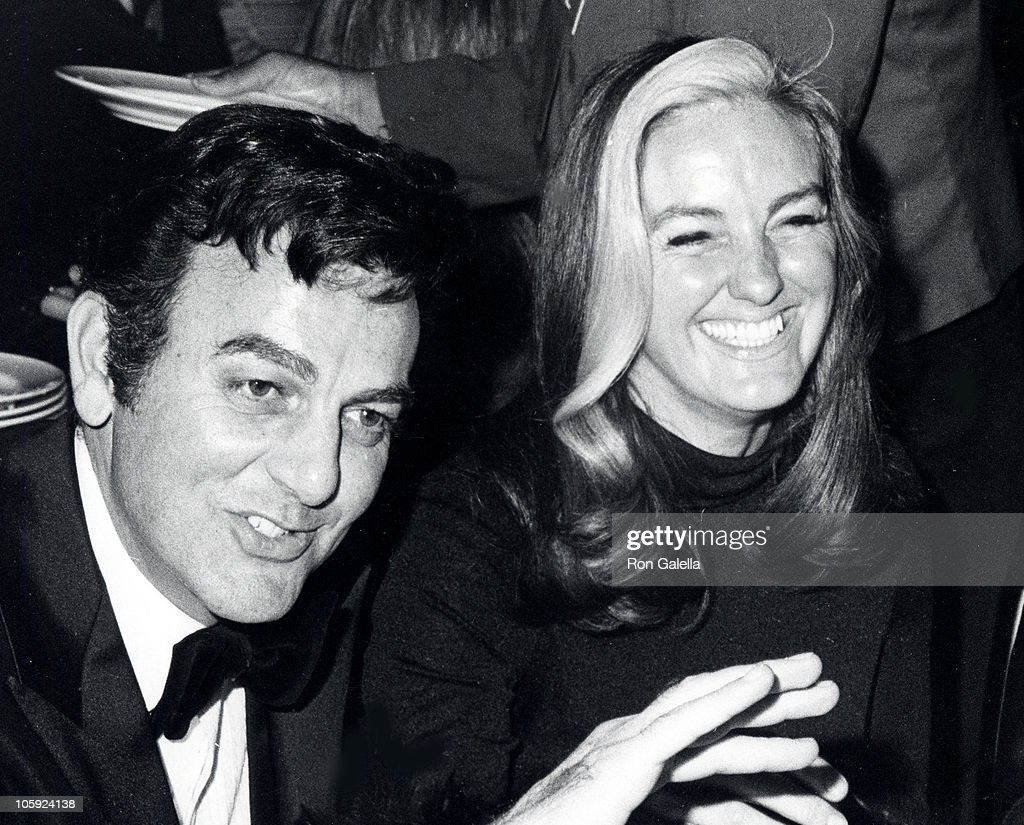 Mike Connors and Marylou Connors during 29th Annual Golden Globe Awards at Hilton Hotel in Beverly Hills, California, United States.