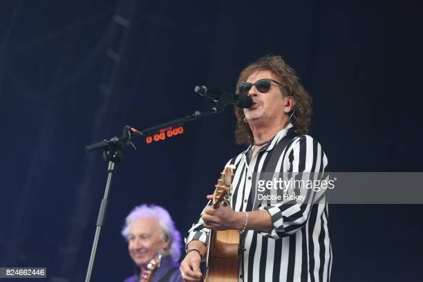 Mike Craft of Smokie performs during Punchestown Music Festival at Punchestown Racecourse on July 30 2017 in Naas Ireland