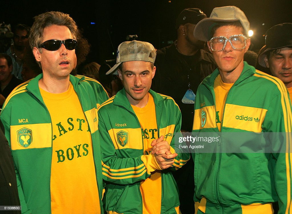 Mike D Adrock and MCA of The Beastie Boys arrive at the 2004 MTV Video Music Awards Latin America at the Jackie Gleason Theater October 21 2004 in...