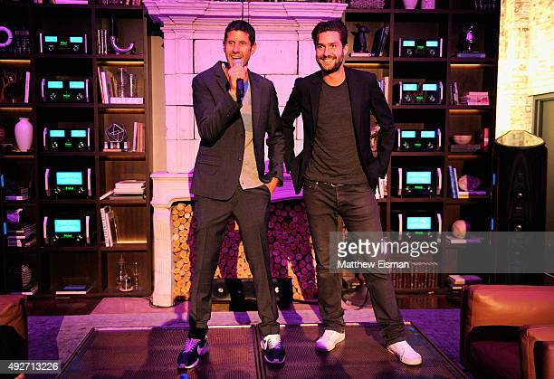 Mike D of Beastie Boys and Restauranter Phil Winser of Silkstone speak at the WOM Townhouse The Perfection of Sound event on October 14 2015 in New...
