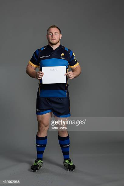 Mike Daniels of Worcester poses for a picture during the Worcester Warriors Photocall for BT at Sixways Stadium on September 23 2015 in Worcester...