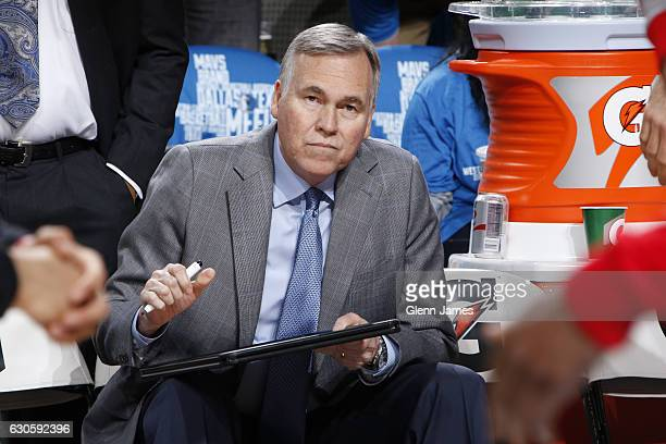 Mike D'Antoni head coach of the Dallas Mavericks during a game against the Dallas Mavericks on December 27 2016 at the American Airlines Center in...