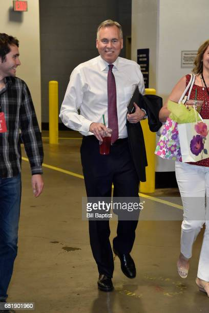 Mike D'Antoni of the Houston Rockets arrives at the arena before Game Three of the Western Conference Semifinals against the San Antonio Spurs during...
