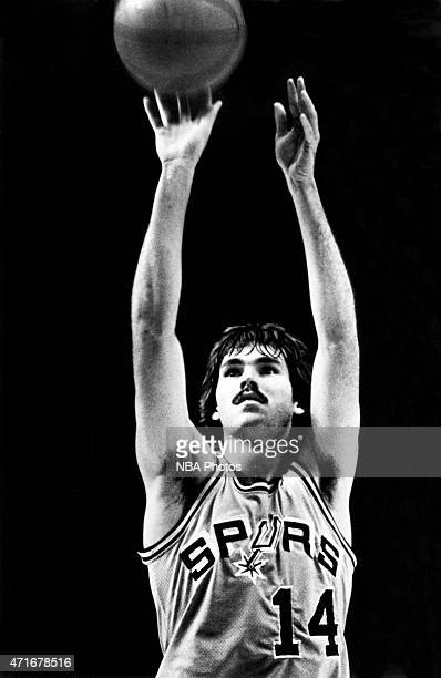 Mike D'Antoni of the San Antonio Spurs attempts a free throw circa 1976 at HemisFair Arena in San Antonio TX NOTE TO USER User expressly acknowledges...