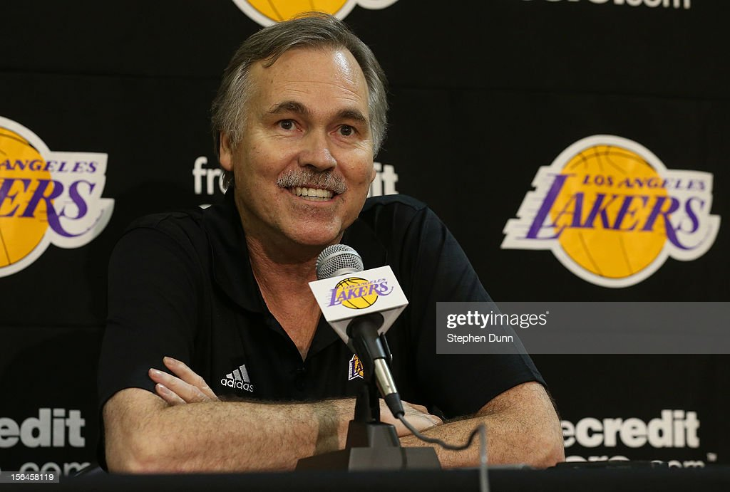 <a gi-track='captionPersonalityLinkClicked' href=/galleries/search?phrase=Mike+D%27Antoni&family=editorial&specificpeople=203175 ng-click='$event.stopPropagation()'>Mike D'Antoni</a> speaks at a press confernece introducing him as the new Los Angeles Lakers head coach on November 15. 2012 at the Lakers practice facility at the Toyota Sports Center in El Segundo, California.