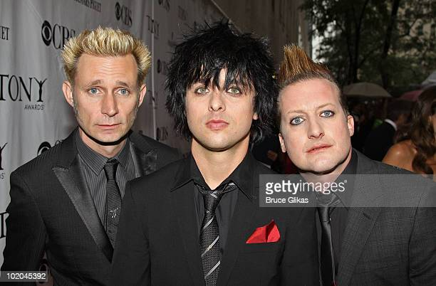 Mike Dirnt Billie Joe Armstrong and Tre Cool of Green Day attend the 64th Annual Tony Awards at Radio City Music Hall on June 13 2010 in New York City
