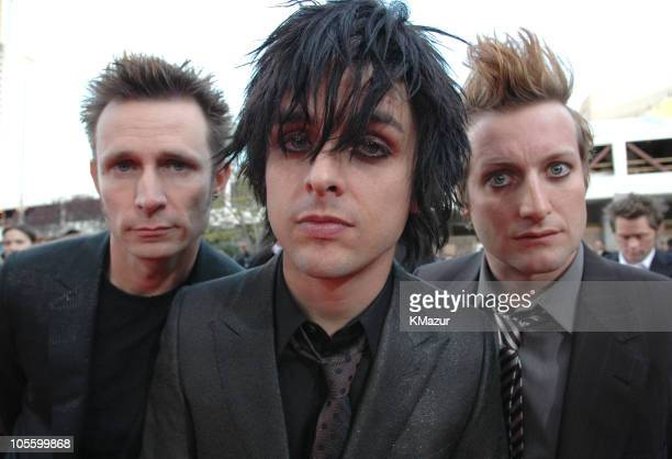 Mike Dirnt Billie Joe Armstrong and Tre Cool of Green Day nominees Artist of the year Group of the year Album of the Year Digital Song of the Year...
