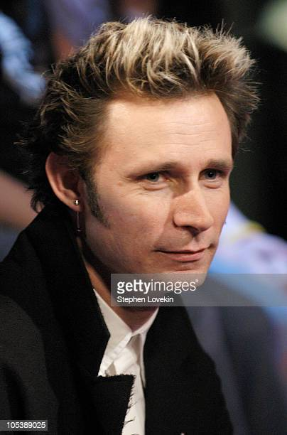 Mike Dirnt of Green Day during Green Day Visits FUSE's 'Daily Download' January 5 2005 at FUSE Studios in New York City New York United States