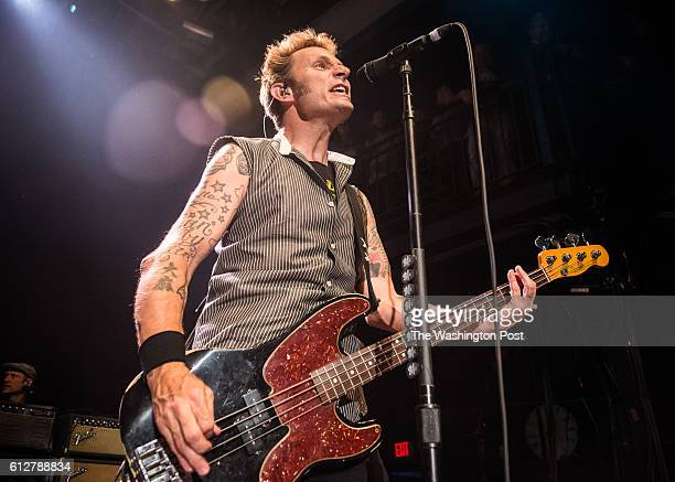 Mike Dirnt of Green Day performs at their sold out show at the 930 Club on Monday