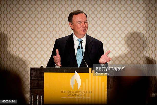 Mike Duke chairman of the WalMart Stores Inc executive committee and chief executive officer of WalMart Stores from 2009 to 2014 speaks during an...