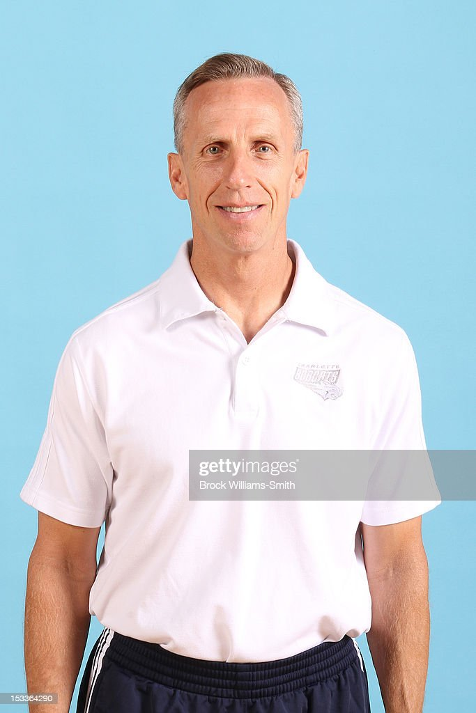 <a gi-track='captionPersonalityLinkClicked' href=/galleries/search?phrase=Mike+Dunlap&family=editorial&specificpeople=3957174 ng-click='$event.stopPropagation()'>Mike Dunlap</a>, head coach of the Charlotte Bobcats poses for photo during media day on October 1, 2012 at the Time Warner Cable Arena in Charlotte, North Carolina.