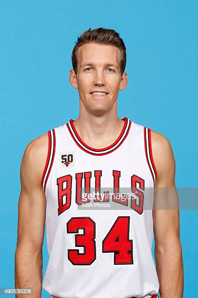 Mike Dunleavy of the Chicago Bulls poses for a portrait during Media Day on September 28 2015 at the Advocate Center in Chicago Illinois NOTE TO USER...