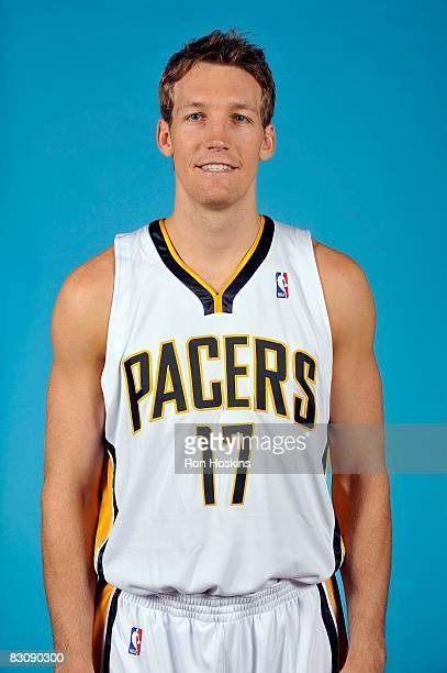 Mike Dunleavy of the Indiana Pacers poses for a portrait on NBA Media Day on September 29 2008 at Conseco Fieldhouse in Indianapolis Indiana NOTE TO...