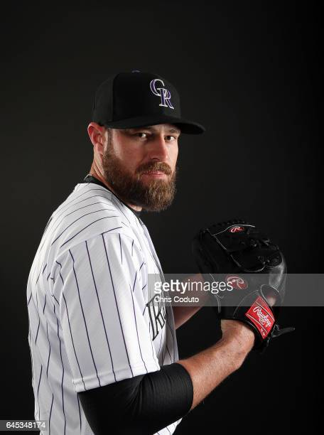 Mike Dunn of the Colorado Rockies poses for a portrait during photo day at Salt River Fields at Talking Stick on February 23 2017 in Scottsdale...
