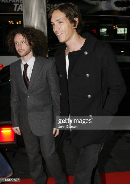 Mike Einziger and Brandon Boyd of Incubus during 'Jackass Number 2' Sydney Premiere at Greater Union Cinema in Sydney NSW Australia