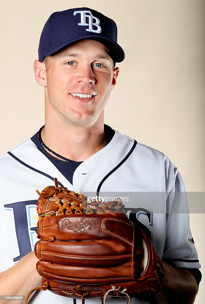 Mike Ekstrom of the Tampa Bay Rays poses for a portrait during the Tampa Bay Rays Photo Day on February 22 2011 at the Charlotte Sports Complex in...