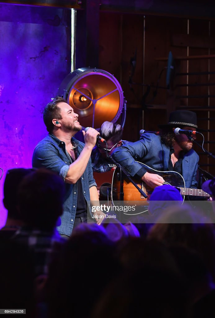 Mike Eli and James Young of the Eli Young band perform onstage at the HGTV Lodge during CMA Music Fest on June 9, 2017 in Nashville, Tennessee.