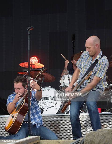 Mike Eli and Jon Jones of Eli Young Band perform at Country Thunder USA Day 2 on July 25 2014 in Twin Lakes Wisconsin