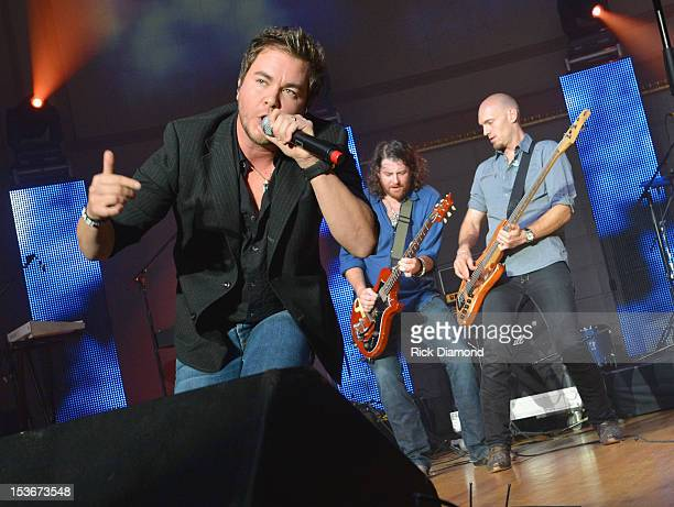 Mike Eli James Young and Jon Jones and of the Eli Young Band perform during the Paradigm Party at IEBA Conference Day 1 at the War Memorial...
