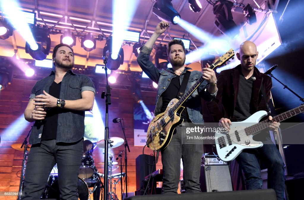 Mike Eli (L) of Eli Young Band performs at the Pandora Night Party during the 2017 SXSW Conference And Festivals on March 13, 2017 in Austin, Texas.