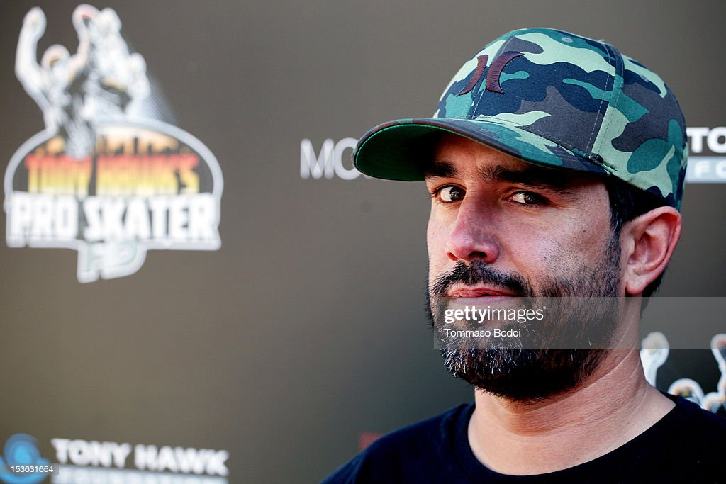 Mike Escamilla attends the 9th annual Tony Hawk Stand Up For Skateparks Benefit held at Ron Burkle's Green Acres Estate on October 7, 2012 in Beverly Hills, California.